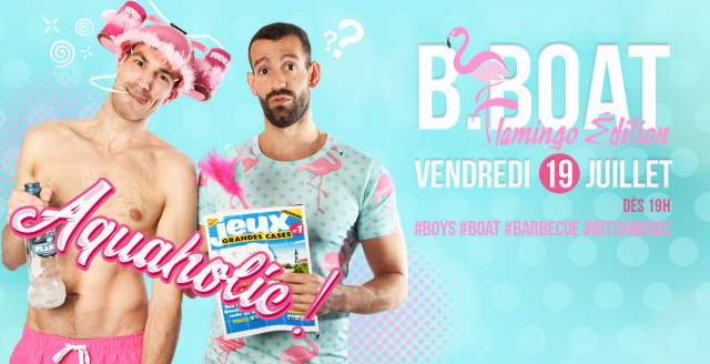 B.Boat Summer Party - Flamingo Édition in Paris le Fri, July 19, 2019 from 07:00 pm to 04:00 am (After-Work Gay)