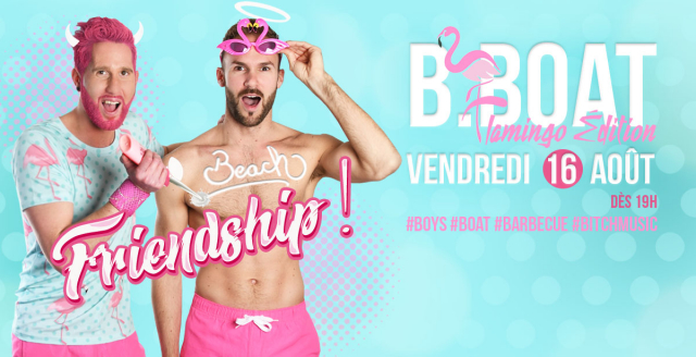 B.Boat Summer Party - Flamingo Édition in Paris le Fri, August 16, 2019 from 07:00 pm to 04:00 am (After-Work Gay)