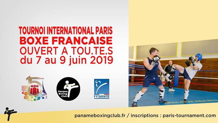 TIP 2019 / Boxe Française em Paris de  7 para  9 de junho de 2019 (Esporto Gay, Lesbica)