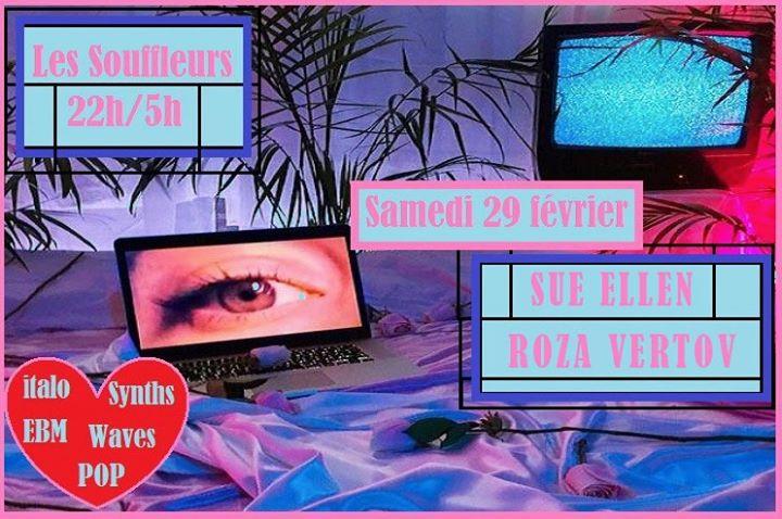 Dj set Sue Ellen & Roza Vertov // les Souffleurs à Paris le sam. 29 février 2020 de 22h00 à 05h00 (Clubbing Gay)