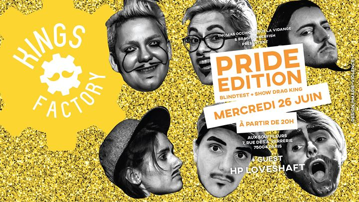 Kings Factory : Pride Edition en Paris le mié 26 de junio de 2019 20:00-23:00 (After-Work Gay)