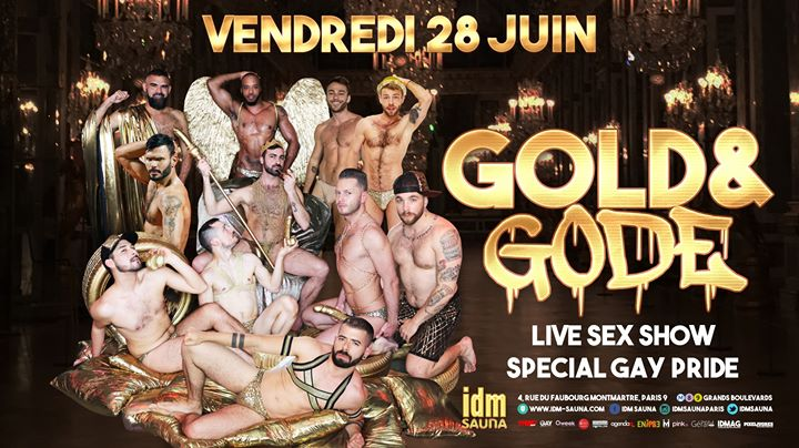 Gold&Gode in Paris le Fri, June 28, 2019 from 06:00 pm to 11:59 pm (Sex Gay)