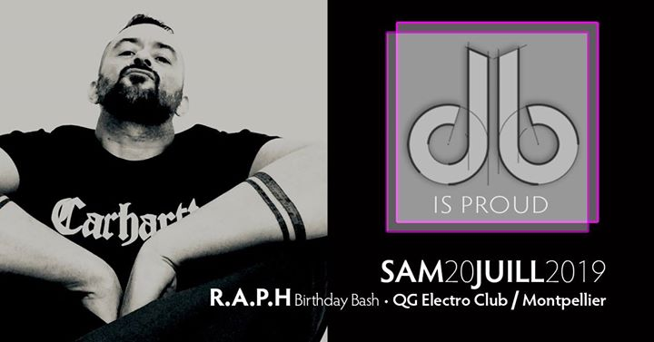 Beardrop db is proud / Raph's birthday bash / Montpellier in Montpellier le Sat, July 20, 2019 from 11:45 pm to 06:00 am (Clubbing Gay, Bear)