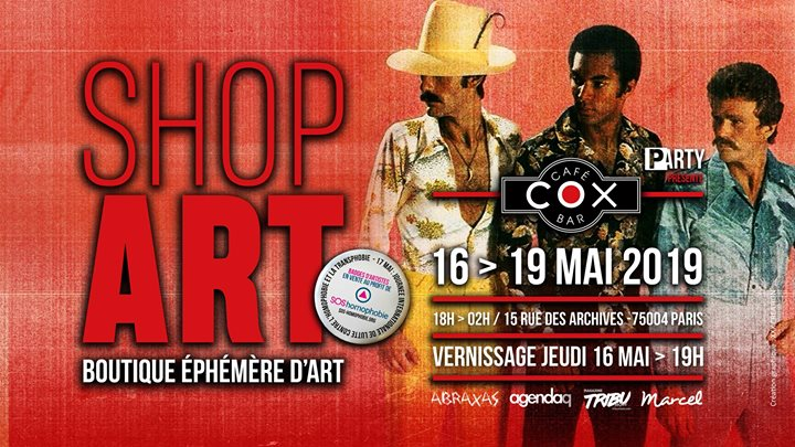 ShopArt / P-Arty au Cox a Parigi dal 16-19 maggio 2019 (After-work Gay)