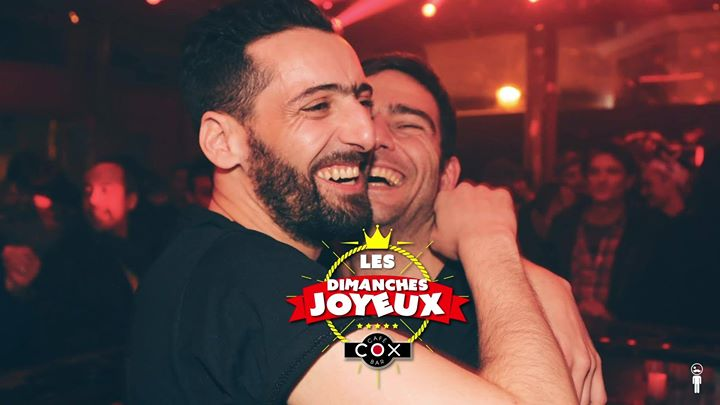 Les dimanches Joyeux #cox en Paris le dom  1 de septiembre de 2019 18:00-02:00 (After-Work Gay)