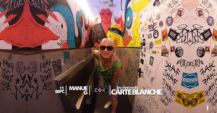 Les Mercredis Carte Blanche : Manue G en Paris le mié 11 de septiembre de 2019 19:30-23:30 (After-Work Gay)