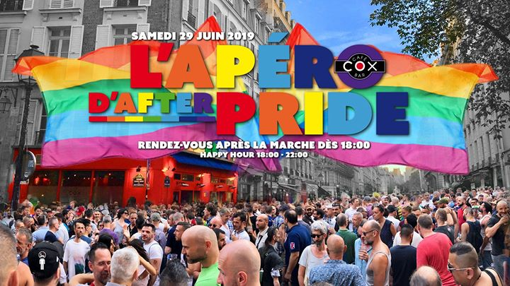 L'apéro d'after Pride 2019 #cox en Paris le sáb 29 de junio de 2019 18:00-02:00 (After-Work Gay)