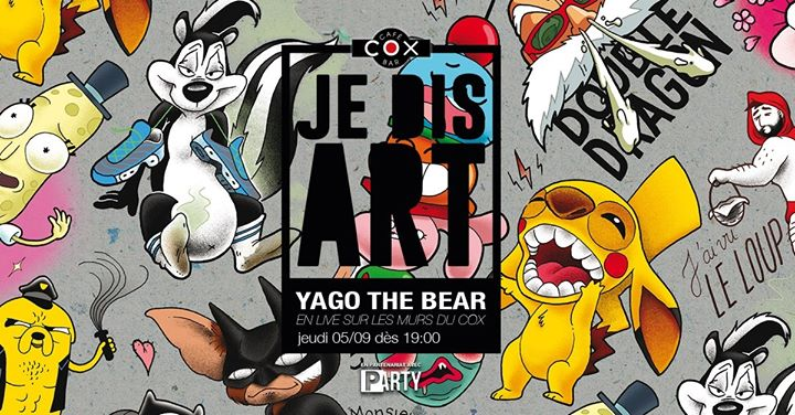 Je Dis Art /// Yago en Paris le jue  5 de septiembre de 2019 19:00-23:00 (After-Work Gay)