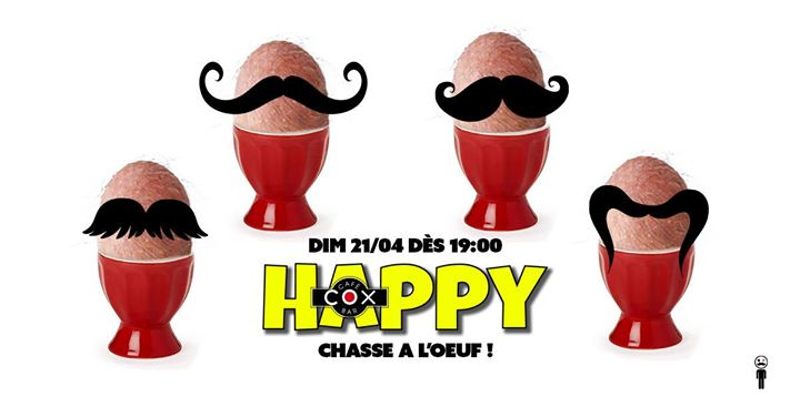 Happy Cox Chasse a l'oeuf ! en Paris le dom 21 de abril de 2019 19:00-02:00 (After-Work Gay)