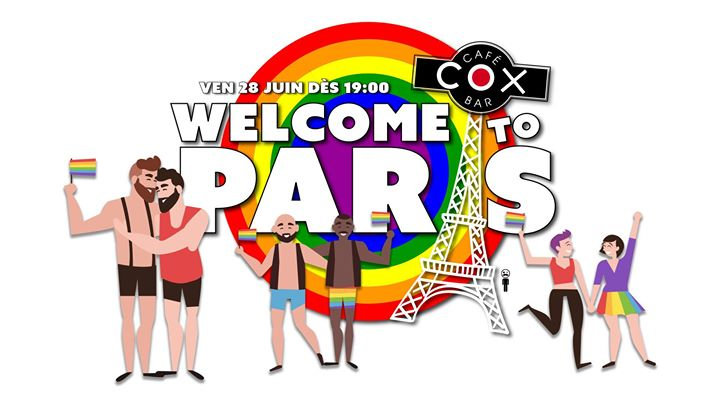 Welcome To Paris ! #cox en Paris le vie 28 de junio de 2019 19:00-00:00 (After-Work Gay)