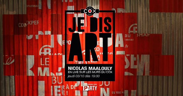 Je Dis Art /// Nicolas Maalouly en Paris le jue  3 de octubre de 2019 19:00-23:00 (After-Work Gay)