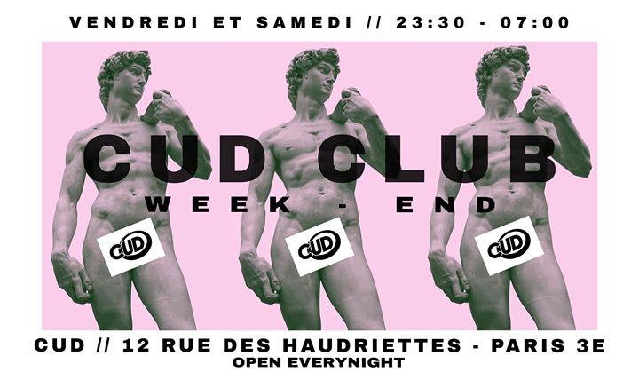 CUD X CLUB in Paris le Fri, December 27, 2019 from 11:30 pm to 07:00 am (Clubbing Gay)