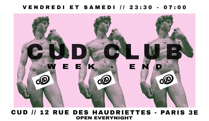 CUD X CLUB in Paris le Sat, November 30, 2019 from 11:30 pm to 07:00 am (Clubbing Gay)