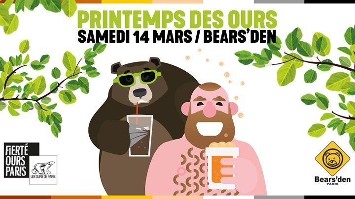 Printemps des Ours 2020 à Paris le sam. 14 mars 2020 de 19h00 à 23h59 (After-Work Gay, Bear)
