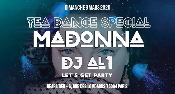 Bear Tea Dance Spécial Madonna By Dj Al1 à Paris le dim.  8 mars 2020 de 17h25 à 00h00 (Tea Dance Gay, Bear)