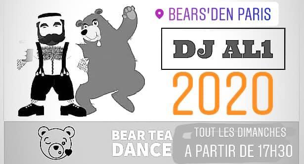 DJ al1 au bears' den pour la Bear Tea Dance à Paris le dim. 23 février 2020 de 17h25 à 00h00 (After-Work Gay, Bear)