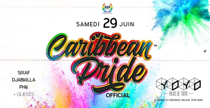Gay Pride Caribbean Party Official à Paris le sam. 29 juin 2019 de 23h30 à 05h00 (Clubbing Gay)