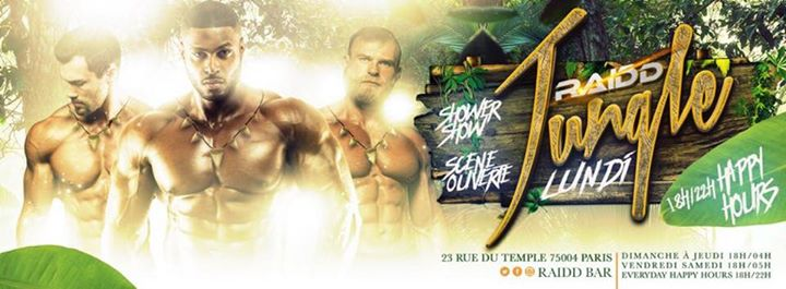 La Jungle in Paris le Mon, May 13, 2019 from 06:00 pm to 04:00 am (Clubbing Gay)