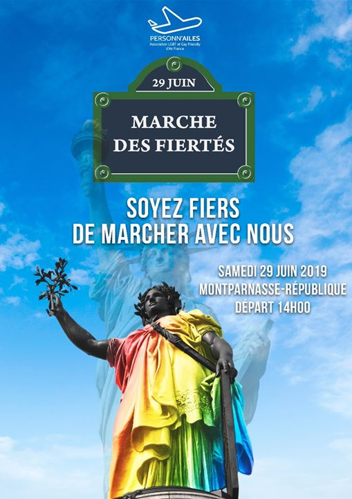 Marche des Fiertés Paris - Gay pride 2019 in Paris le Sat, June 29, 2019 from 02:00 pm to 07:00 pm (Parades Gay, Lesbian)