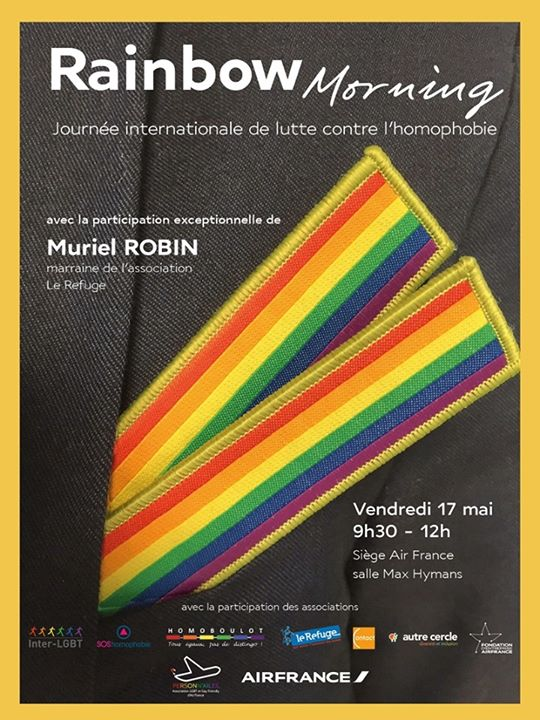Rainbow Morning - conférence LGBT in Paris le Fri, May 17, 2019 from 10:00 am to 12:00 pm (Meetings / Discussions Gay, Lesbian)