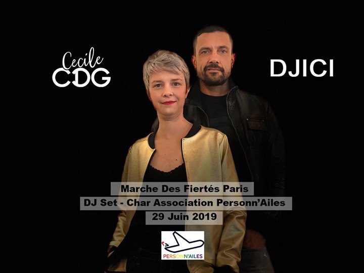 DJ Set DJICI & Cecile CDG - Marche des Fiertés 2019 - Paris in Saint-Denis le Sat, June 29, 2019 from 01:00 pm to 08:00 pm (Parades Gay, Lesbian)