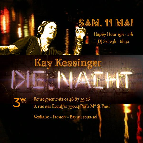 Die Nacht avec Kay Kessinger à Paris le ven. 26 avril 2019 de 19h00 à 06h30 (Clubbing Gay Friendly, Lesbienne)