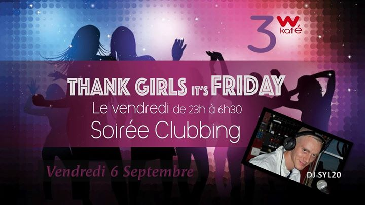 Thank girls, it's friday in Paris le Fri, September 20, 2019 from 07:00 pm to 11:45 pm (Clubbing Gay Friendly, Lesbian)