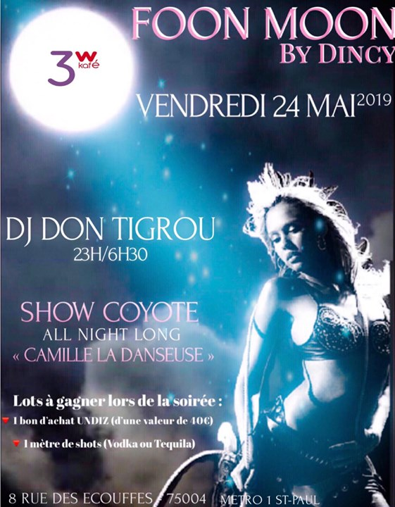 Foon Moon en mai à Paris le ven. 24 mai 2019 de 19h00 à 06h30 (After-Work Gay Friendly, Lesbienne)