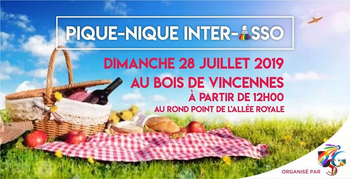 Pique Nique Inter-asso in Paris le Sun, July 28, 2019 from 12:00 pm to 06:00 pm (Picnic Gay, Lesbian, Trans, Bi)