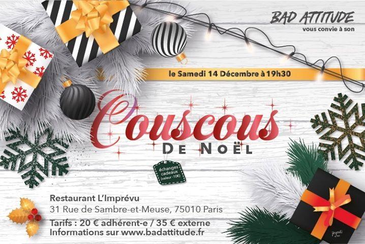 Le couscous de Noël en Paris le sáb 14 de diciembre de 2019 19:00-23:30 (After-Work Gay, Lesbiana, Trans, Bi)