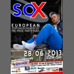 ★★★ SOX ★★★ SNEAKERS/SPORTSWEAR  PRE-PRIDE PARTY in Paris le Fri, June 28, 2013 from 10:00 pm to 05:00 am (Sex Gay)