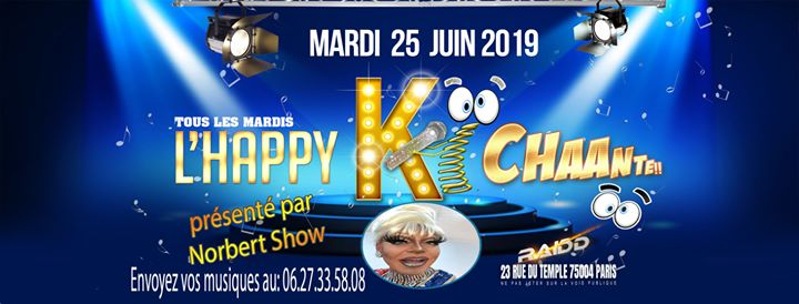 L'happy ki chante in Paris le Tue, June 25, 2019 from 06:00 pm to 11:00 pm (After-Work Gay)