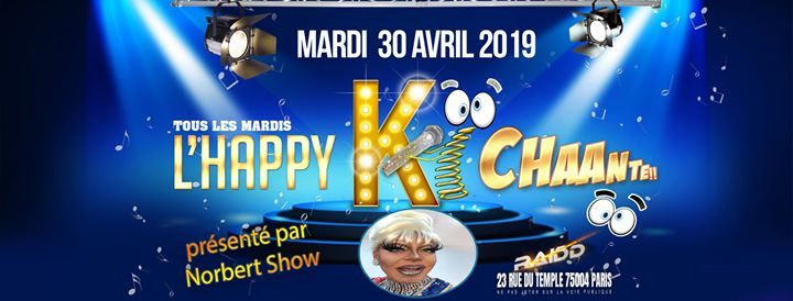 L'Happy ki chante avec Norbert show à Paris le mar. 30 avril 2019 de 18h00 à 23h00 (After-Work Gay)