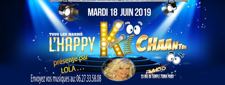 L'happy ki chante in Paris le Tue, June 18, 2019 from 06:00 pm to 11:00 pm (After-Work Gay)