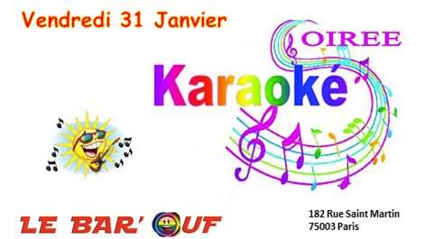 Le Bar'Ouf Karaoké à Paris le ven. 31 janvier 2020 de 19h00 à 22h30 (After-Work Gay Friendly, Lesbienne)