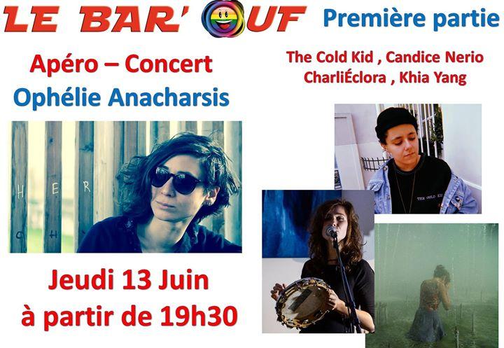 Apero Concert Ophélie Anacharsis et ses invitées in Paris le Thu, June 13, 2019 from 07:30 pm to 10:30 pm (Concert Gay Friendly, Lesbian)