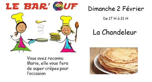 Le Bar'Ouf Chandeleur in Paris le Sun, February  2, 2020 from 05:00 pm to 09:00 pm (After-Work Gay Friendly, Lesbian)