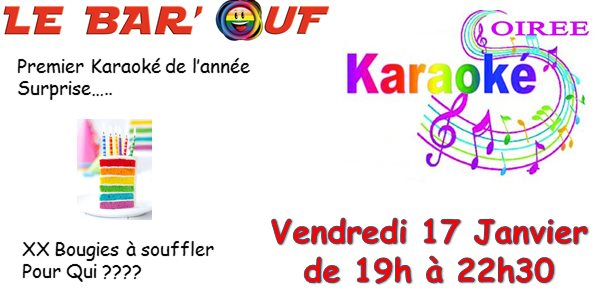Le Bar'Ouf : Karaoké et plus in Paris le Fri, January 17, 2020 from 07:00 pm to 10:30 pm (After-Work Gay Friendly, Lesbian)