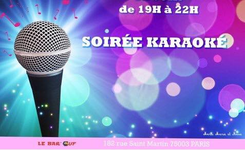 Le Bar'Ouf : Karaoke à Paris le ven.  4 octobre 2019 de 19h00 à 22h00 (After-Work Gay Friendly, Lesbienne)