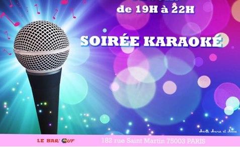 Le Bar'Ouf : Karaoke à Paris le ven.  5 juillet 2019 de 19h00 à 22h00 (After-Work Gay Friendly, Lesbienne)