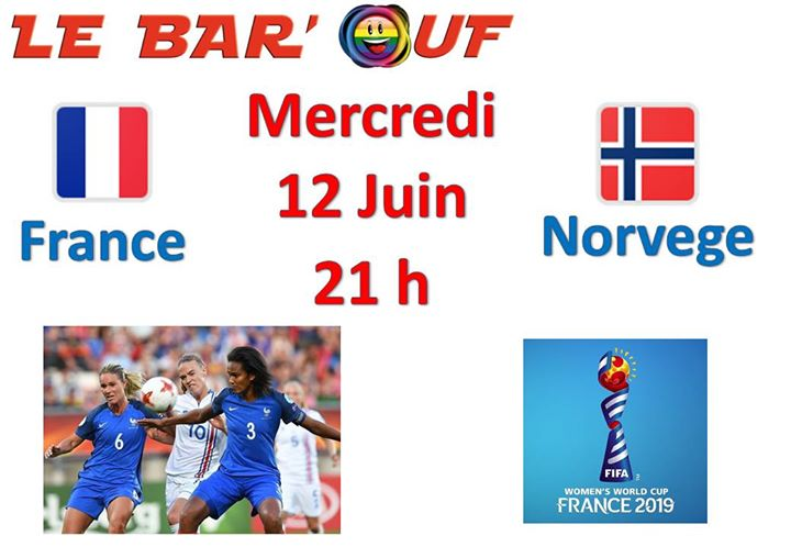 Le Bar'Ouf : Coupe du monde feminine in Paris le Wed, June 12, 2019 from 09:00 pm to 11:30 pm (After-Work Gay Friendly, Lesbian)