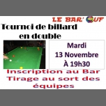 Le Bar'Ouf : Tournoi de billard en double in Paris le Tue, November 13, 2018 from 07:30 pm to 11:59 pm (After-Work Gay Friendly, Lesbian)