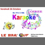 Le Bar'Ouf : Soiree Karaoke in Paris le Fri, October 26, 2018 from 07:00 pm to 10:00 pm (After-Work Gay Friendly, Lesbian)