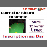 Le Bar'Ouf : Tournoi Billard en Simple in Paris le Tue, February 12, 2019 from 07:30 pm to 11:30 pm (After-Work Gay Friendly, Lesbian)