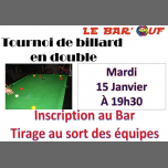 巴黎Le Bar'Ouf : Tournoi de billard en double2019年 7月15日,19:30(男同性恋友好, 女同性恋 下班后的活动)