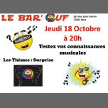 Le Bar'Ouf : Blind Test Musical à Paris le jeu. 18 octobre 2018 de 20h00 à 21h30 (After-Work Gay Friendly, Lesbienne)