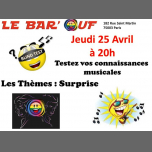 Le Bar'Ouf Blind Test Musical à Paris le jeu. 25 avril 2019 de 20h00 à 22h00 (After-Work Gay Friendly, Lesbienne)