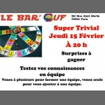 Le Bar'Ouf : Trivial Poursuit par équipe à Paris le jeu. 15 février 2018 de 20h00 à 23h00 (After-Work Gay Friendly, Lesbienne)