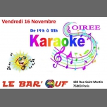 Le Bar'Ouf : Karaoke in Paris le Fri, November 16, 2018 from 07:00 pm to 10:00 pm (After-Work Gay Friendly, Lesbian)