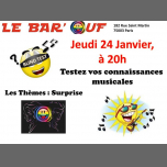 Le Bar'Ouf : Blind test musical a Parigi le gio 24 gennaio 2019 20:00-21:30 (After-work Gay friendly, Lesbica)